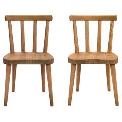 Axel Einar Hjorth,  a Pair of  Swedish Solid Pine Utö Chairs