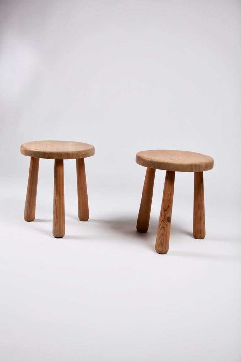 Axel Einar Hjorth, a Pair of Utö Stools, Nordiska Kompaniet, 1932 For Sale 3