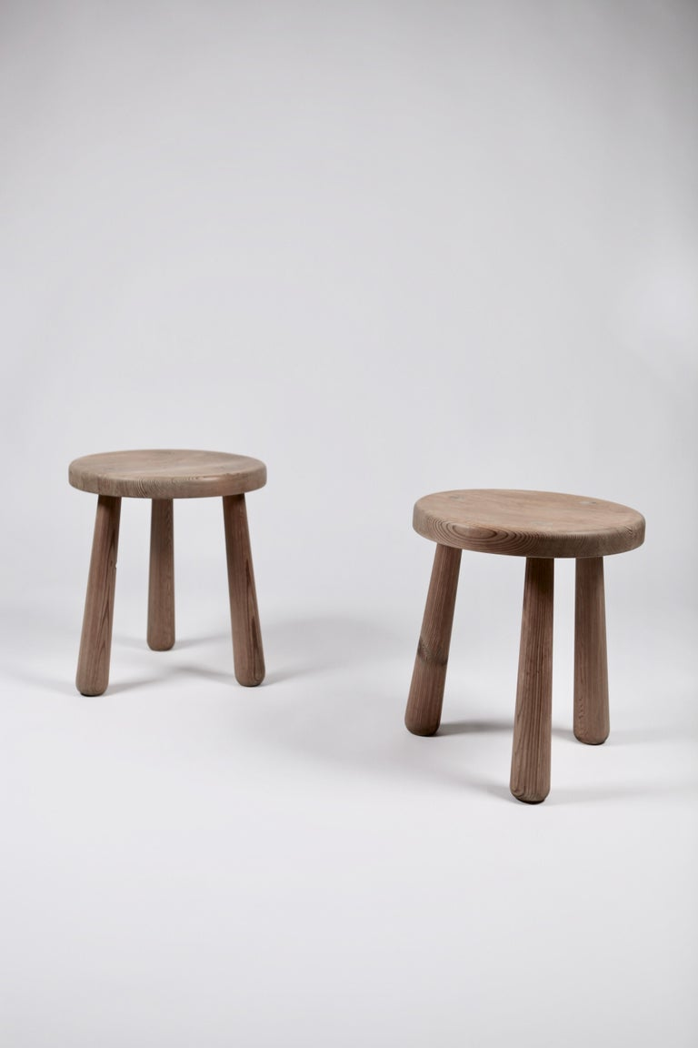 Axel Einar Hjorth, a Pair of Utö Stools, Nordiska Kompaniet, 1932 For Sale 4