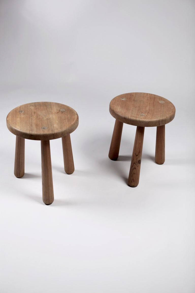 Axel Einar Hjorth, a Pair of Utö Stools, Nordiska Kompaniet, 1932 For Sale 5
