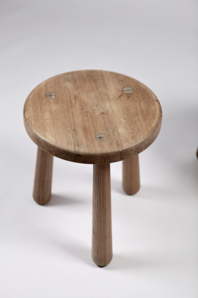 Axel Einar Hjorth, a Pair of Utö Stools, Nordiska Kompaniet, 1932 For Sale 6
