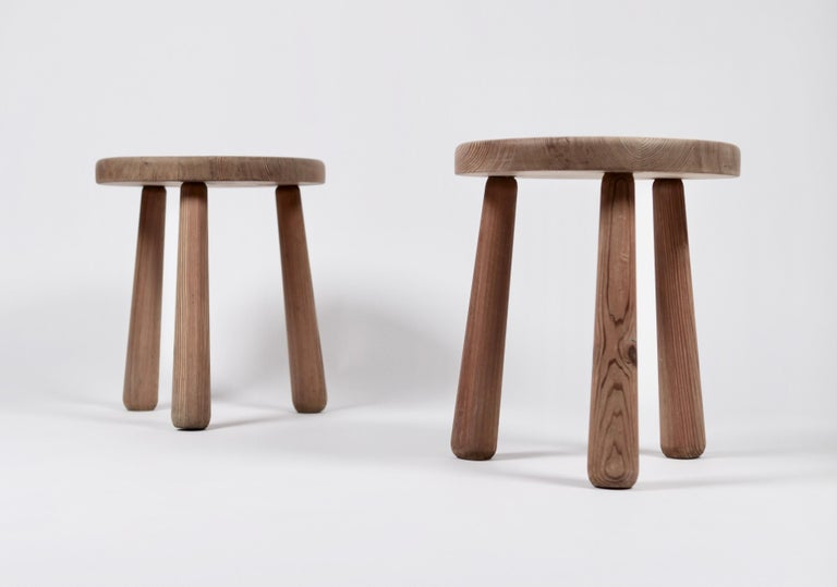 A rare pair of Utö stools by Axel Einar Hjorth.