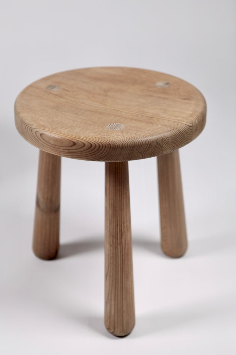 Scandinavian Modern Axel Einar Hjorth, a Pair of Utö Stools, Nordiska Kompaniet, 1932 For Sale