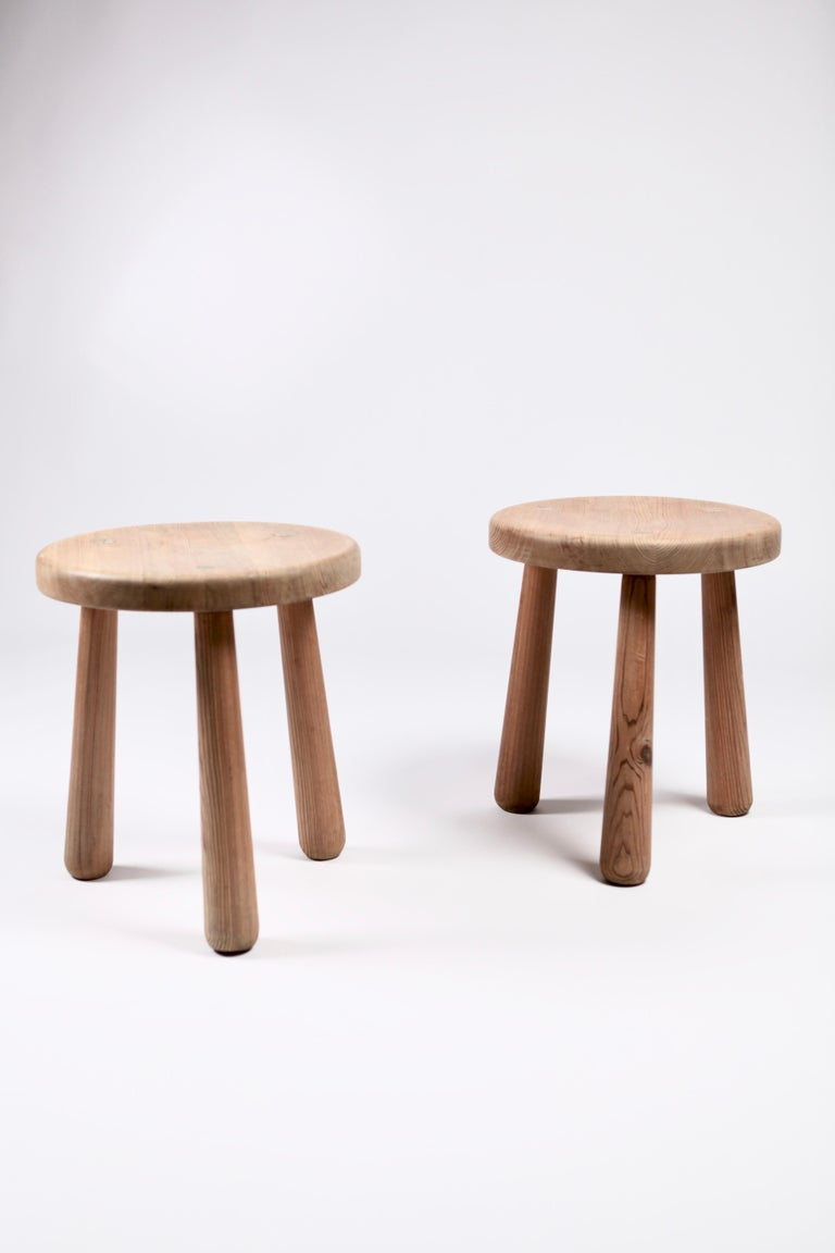 Swedish Axel Einar Hjorth, a Pair of Utö Stools, Nordiska Kompaniet, 1932 For Sale