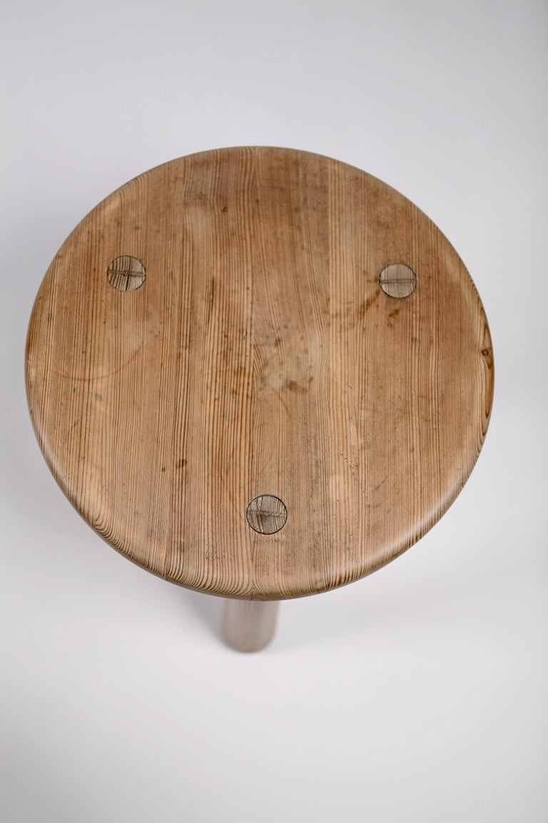 Mid-20th Century Axel Einar Hjorth, a Pair of Utö Stools, Nordiska Kompaniet, 1932 For Sale