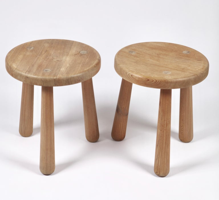 Axel Einar Hjorth, a Pair of Utö Stools, Nordiska Kompaniet, 1932 For Sale 1