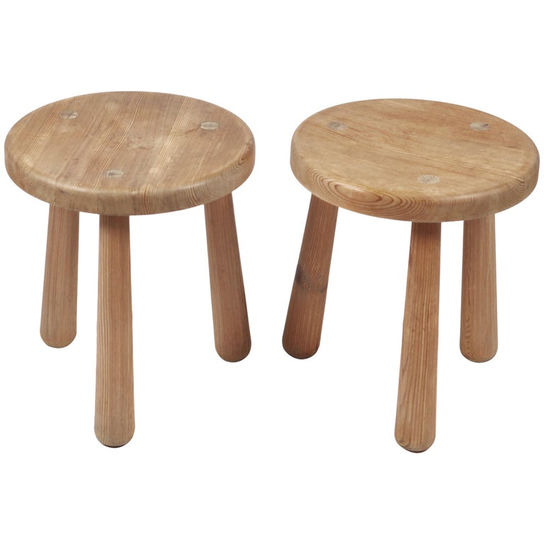 Axel Einar Hjorth, a Pair of Utö Stools, Nordiska Kompaniet, 1932 For Sale