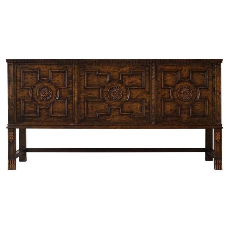 """Axel Einar Hjorth Art Deco Sideboard, Model """"Roma"""" Made by Bodafors, 1920s For Sale"""