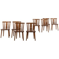 Axel Einar Hjorth Attributed Dining Chairs Produced by Bodafors in Sweden