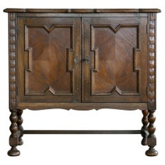 Axel Einar Hjorth Attributed Small Console or Cabinet in Stained Oak circa 1940s
