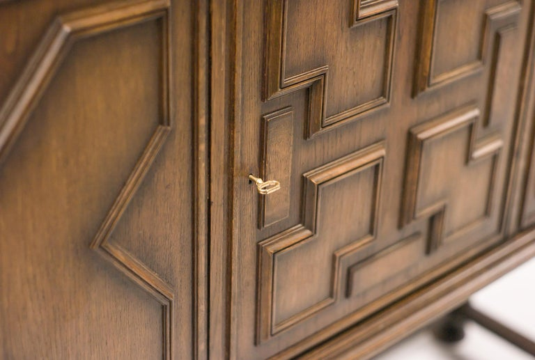 Stained Axel Einar Hjorth Bar Cabinet For Sale