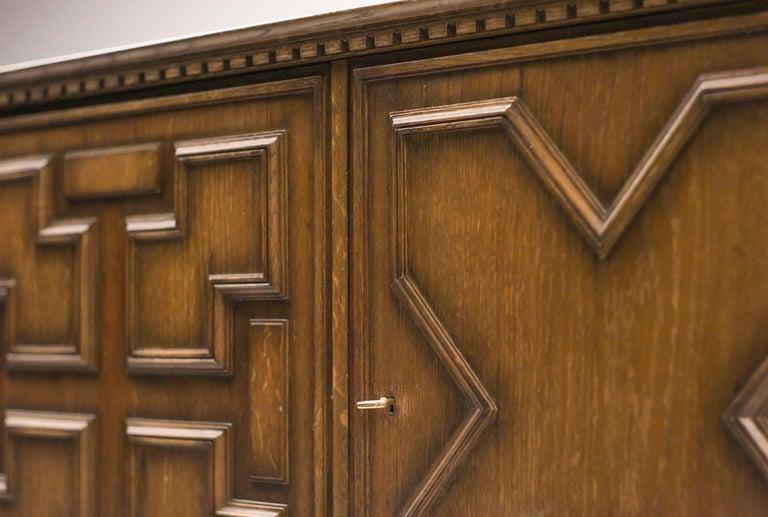 Oak Axel Einar Hjorth Bar Cabinet For Sale