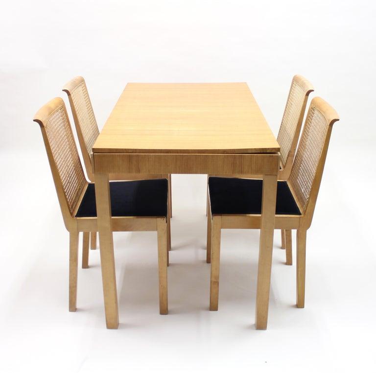Swedish Axel Einar Hjorth, Dining Set, Nordiska Kompaniet, 1930s For Sale