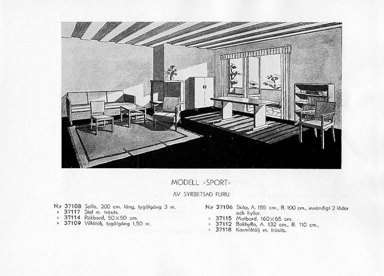 Mid-20th Century Axel Einar Hjorth, Dining Table, Model
