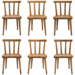 Axel Einar Hjorth, for Nordiska Kompaniet, Set of 6 Solid Pine Utö Chairs