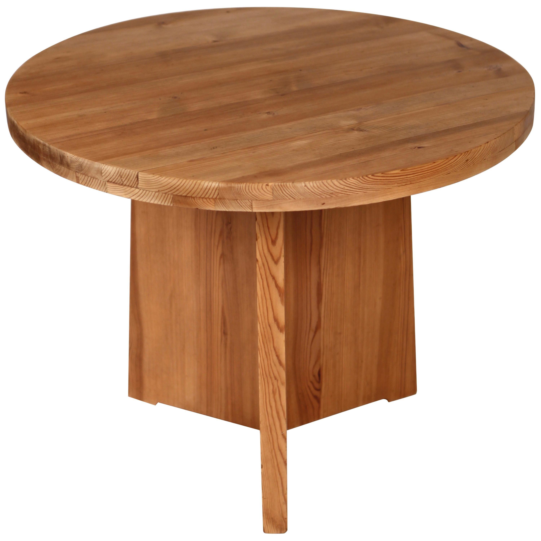 Axel Einar Hjorth, Lovö Table in Solid Pine, Nordiska Kompaniet, Sweden, 1930s