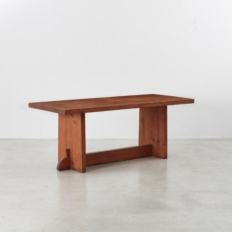 A Swedish Pine Lovö dining table designed by Axel Einar Hjorth for Nordiska Kompaniet in the 1930s. Hjorth was major contributor to the burgeoning Swedish design culture that was recognised internationally in the 1920s. He effectively introduced