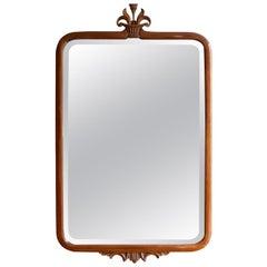 Axel Einar Hjorth Mahogany Mirror for Nordiska Kompaniet, Stockholm, 1920s