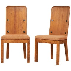 Axel Einar Hjorth, pair of Lovo Chairs, Sweden, 1930s