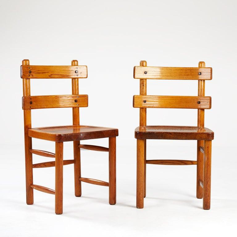 Scandinavian Modern Axel Einar Hjorth, Sandhamn Chairs, 1929 For Sale