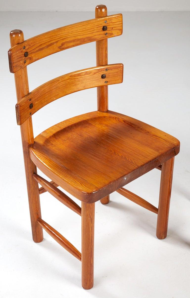 Swedish Axel Einar Hjorth, Sandhamn Chairs, 1929 For Sale