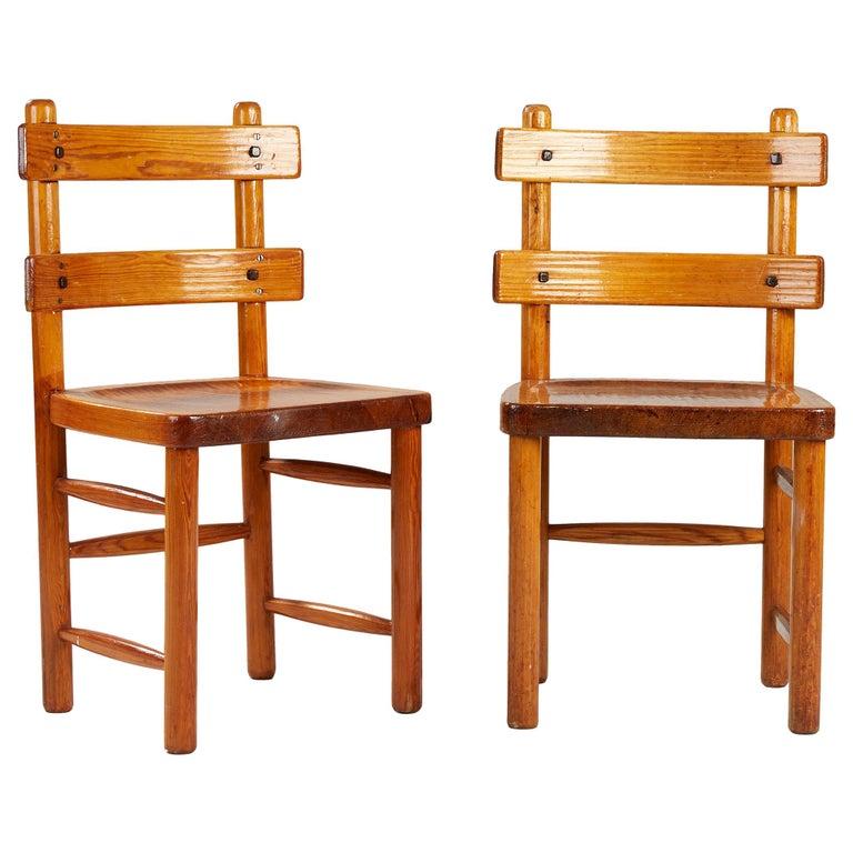 Axel Einar Hjorth, Sandhamn Chairs, 1929 For Sale