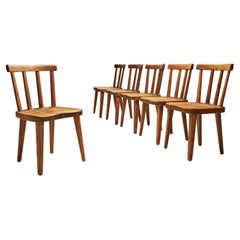 "Axel Einar Hjorth ""Utö"" Dining Chairs for Nordiska Kompaniet, Sweden 1930s"