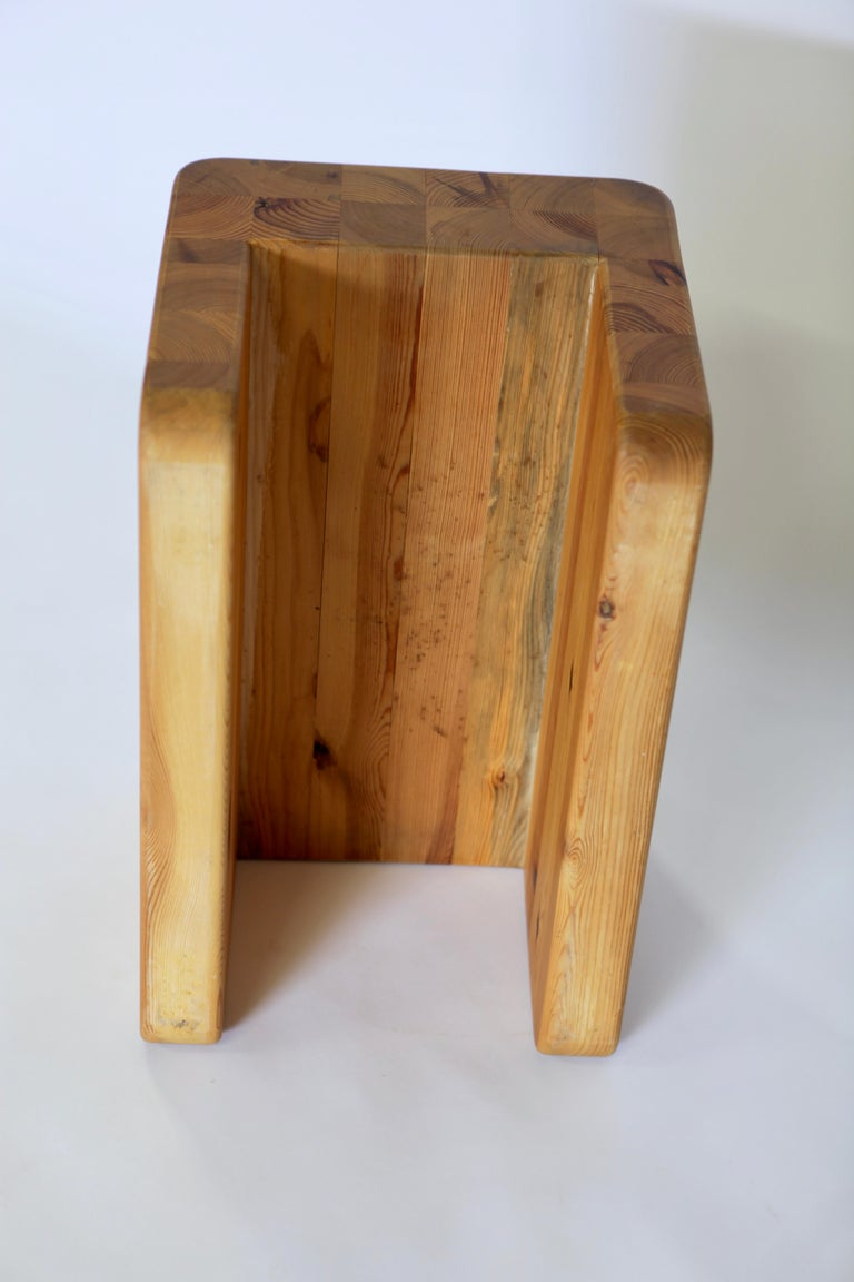 Axel Einar Hjorth, Utö Tabouret Solid Patinated Pine, Nordiska Kompaniet, 1932 For Sale 3