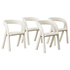 Axel Enthoven Set of Four Dining Chairs for Rohé, Netherlands, circa 1970