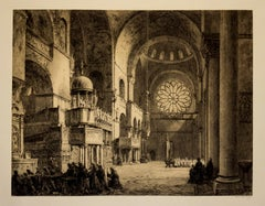 """South Transept of St. Mark's, Venice"", Vintage Signed Print"