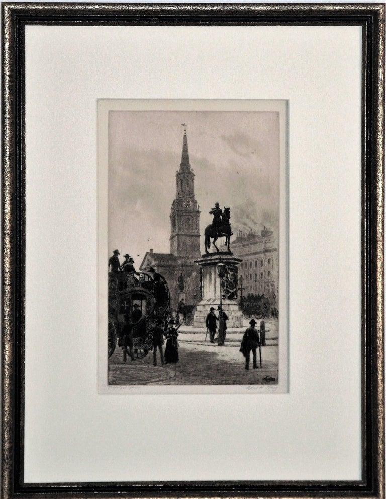 Axel Herman Haig, R.E. Figurative Print - Trafalgar Square, London