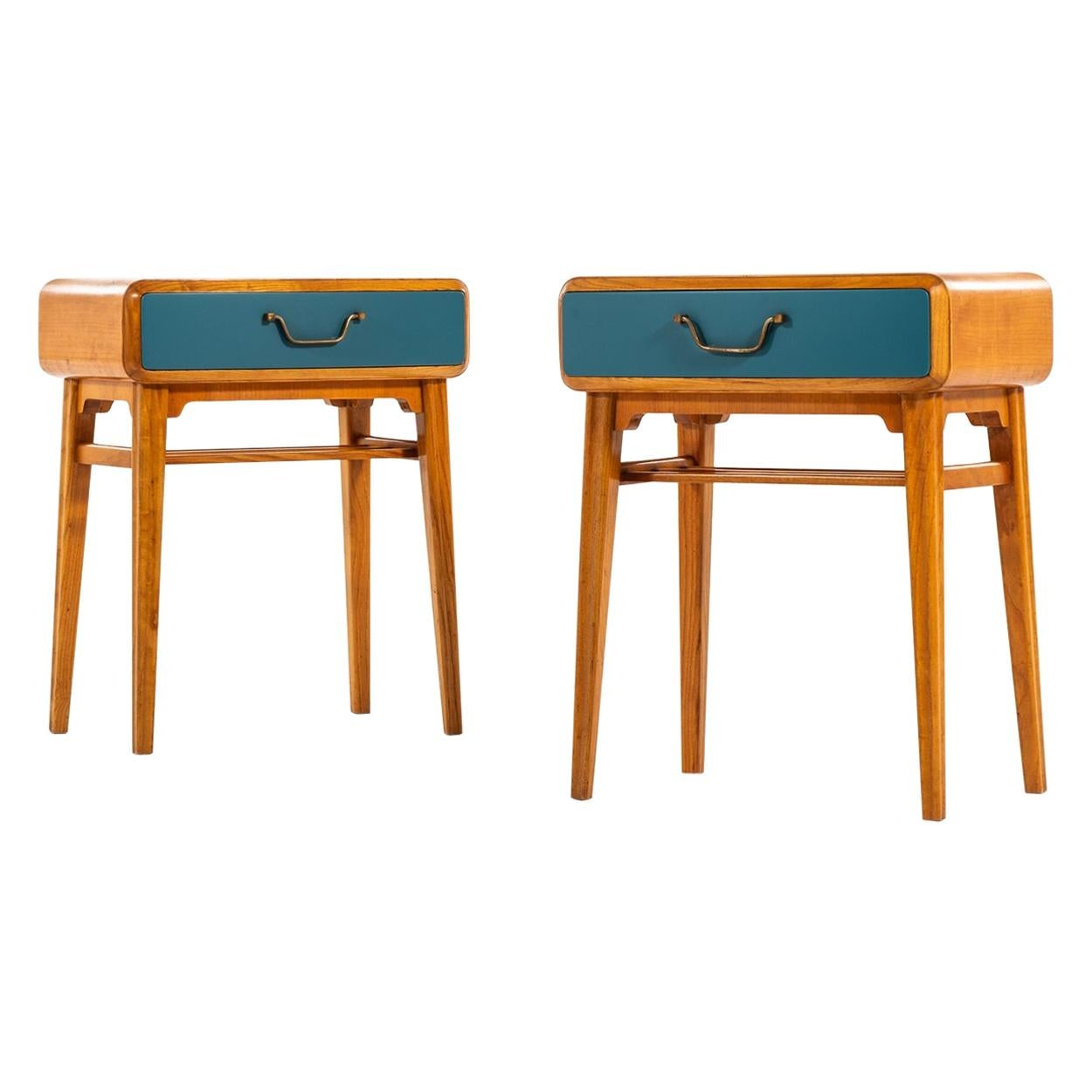Axel Larsson Bedside Tables Produced by Bodafors in Sweden