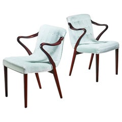 Axel Larsson Pair of Model 1522 Armchairs, Bodafors, 1930s