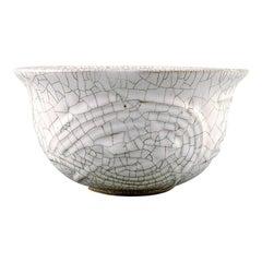 Axel Salto for Royal Copenhagen, Crackled / Craquelé Bowl in Glazed Stoneware