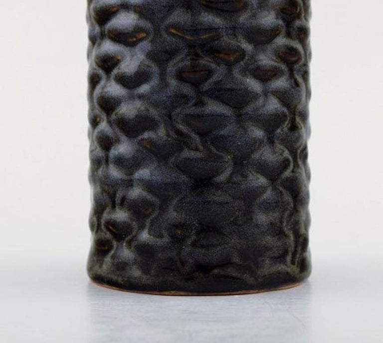 Axel Salto for Royal Copenhagen. Stoneware Vase Modeled with Buds in Relief In Excellent Condition For Sale In Copenhagen, Denmark