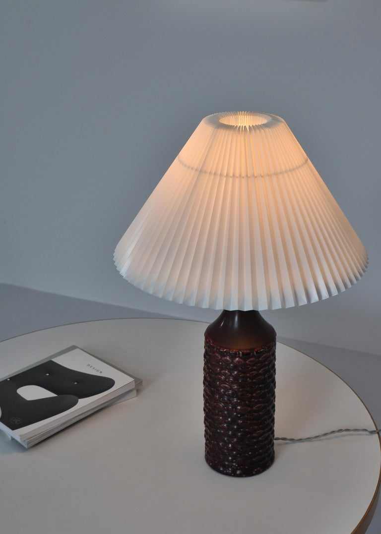 Axel Salto Large Table Lamp in Oxblood Glaze from Royal Copenhagen, 1958 For Sale 4