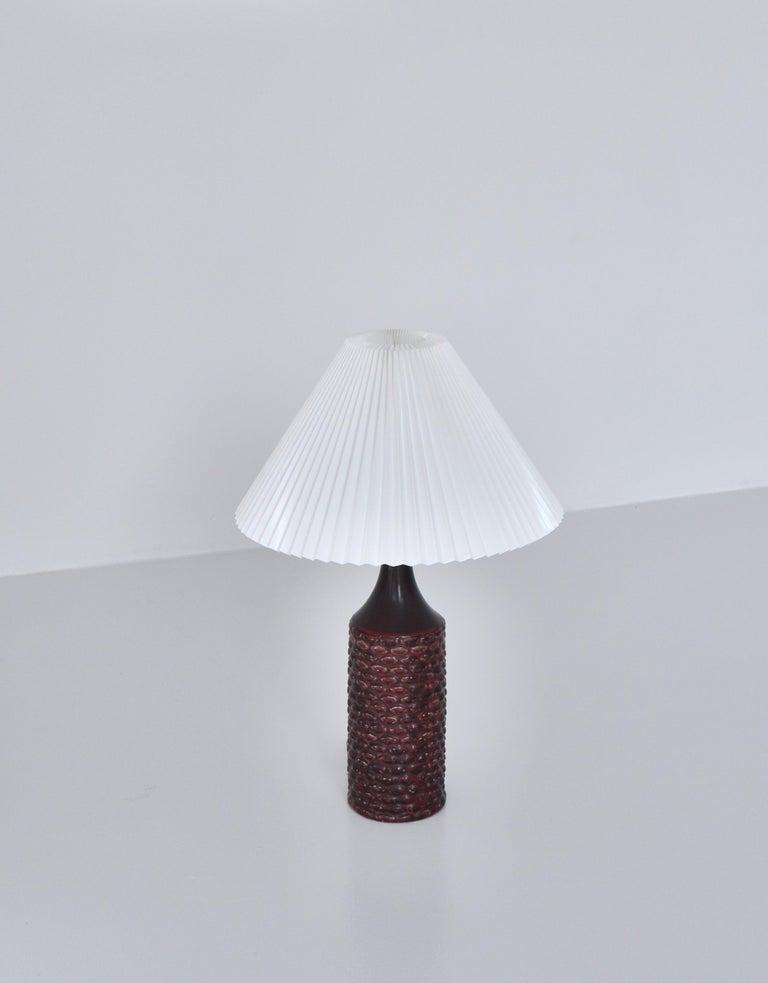Danish Axel Salto Large Table Lamp in Oxblood Glaze from Royal Copenhagen, 1958 For Sale