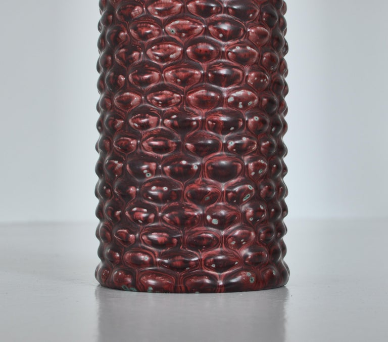 Mid-20th Century Axel Salto Large Table Lamp in Oxblood Glaze from Royal Copenhagen, 1958 For Sale