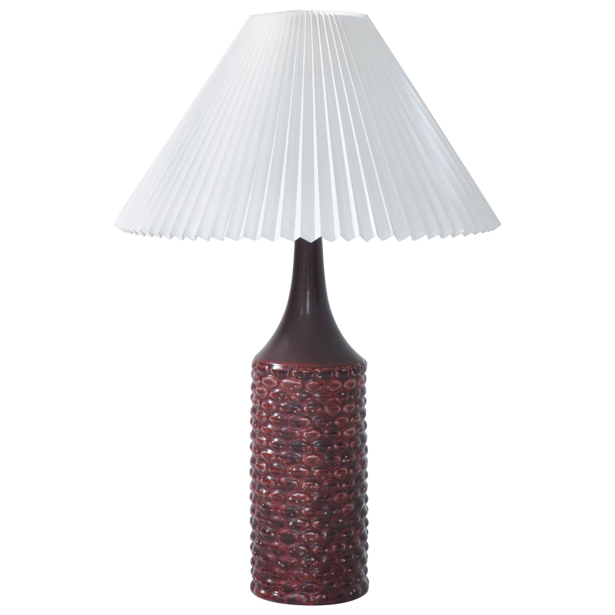 Axel Salto Large Table Lamp in Oxblood Glaze from Royal Copenhagen, 1958