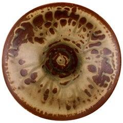 Axel Salto, Royal Copenhagen Circular Bowl of Stoneware in Fluted Style
