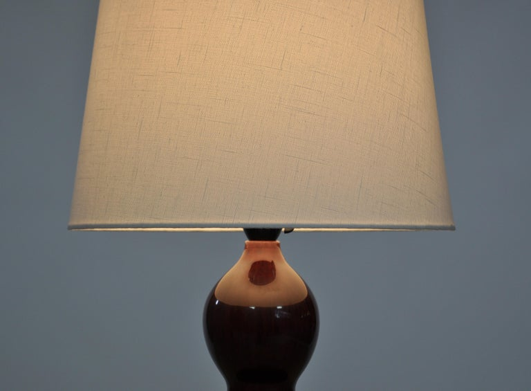 Danish Axel Salto Stoneware Table Lamp in Ox Blood Glaze, Royal Copenhagen For Sale