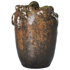 Axel Salto Stoneware Vase Budding Style with Solfatara Glazing Royal Copenhagen