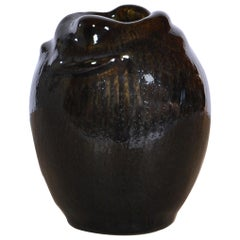 Axel Salto Stoneware Vase Model 21451 in Budding Style for Royal Copenhagen