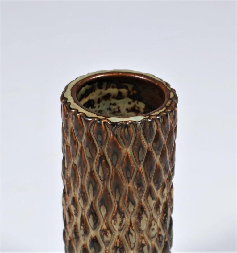 Scandinavian Modern Axel Salto Sung Glazed Stoneware Vase Model 20564 for Royal Copenhagen, 1965 For Sale