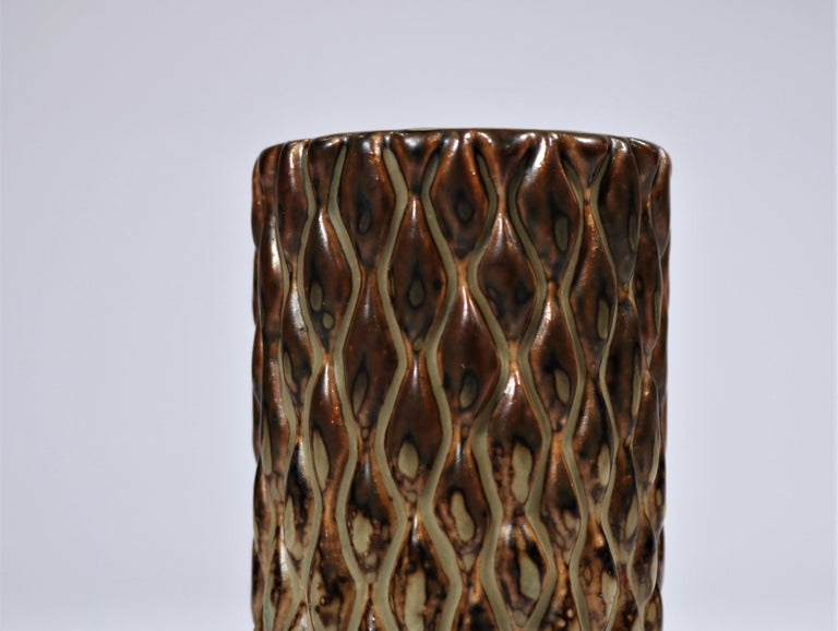 Danish Axel Salto Sung Glazed Stoneware Vase Model 20564 for Royal Copenhagen, 1965 For Sale