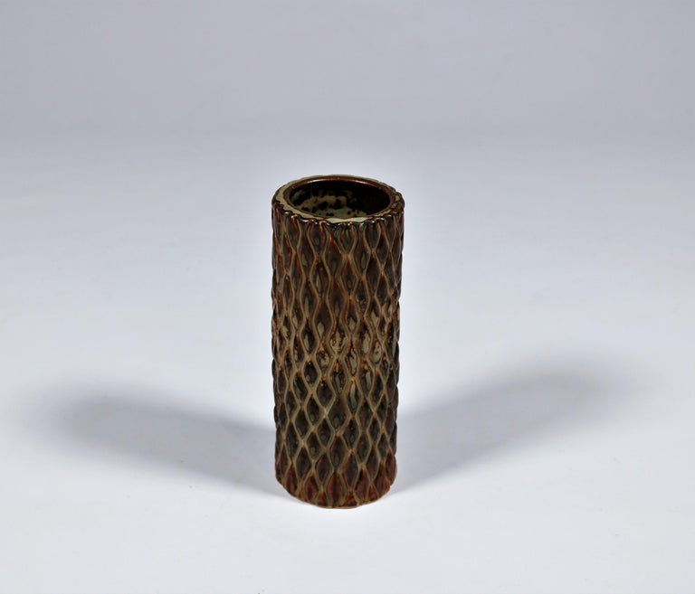 Axel Salto Sung Glazed Stoneware Vase Model 20564 for Royal Copenhagen, 1965 In Excellent Condition For Sale In Odense, DK