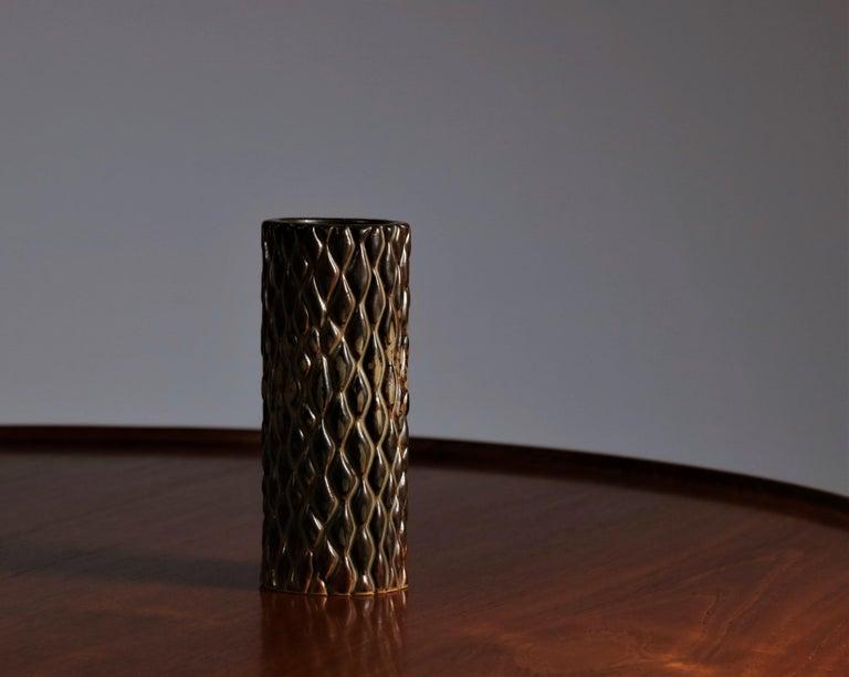 Axel Salto Sung Glazed Stoneware Vase Model 20564 for Royal Copenhagen, 1965 For Sale 1