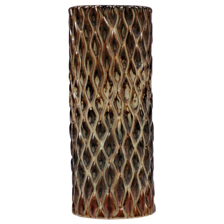 Axel Salto Sung Glazed Stoneware Vase Model 20564 for Royal Copenhagen, 1965 For Sale