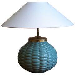 "Axel Salto, Table Lamp ""Budding"" Style, Stoneware, P. Ipsen Enke, Denmark C 1945"