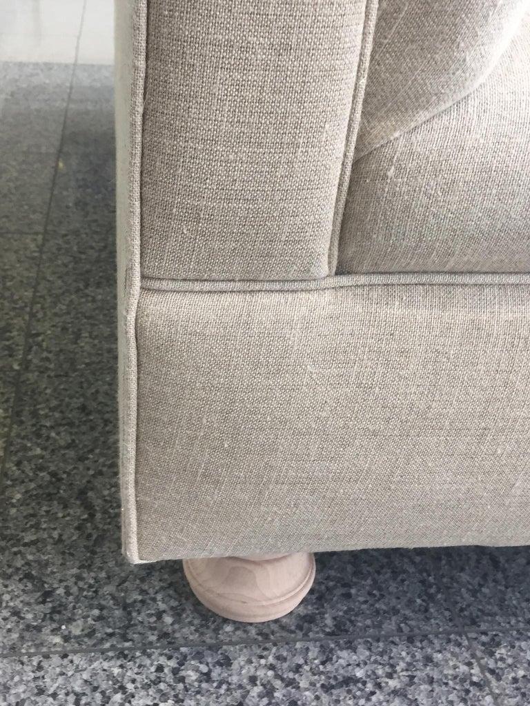 Axel Vervoordt Custom Sofa in Belgian Linen 6